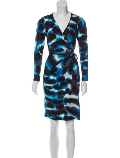 Diane von Furstenberg Silk Wrap Dress Multicolor