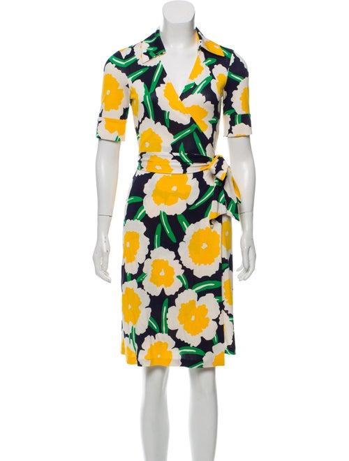 Diane von Furstenberg Silk Wrap Dress Navy