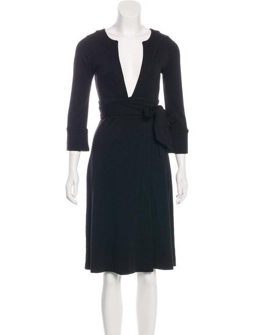 Diane von Furstenberg Wool Wrap Dress Black