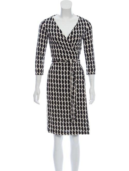 Diane von Furstenberg Silk Wrap Dress Black