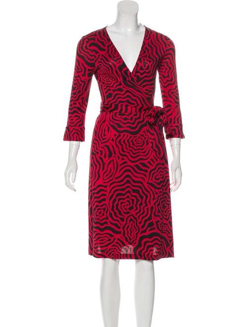 Diane von Furstenberg Silk Wrap Dress Red