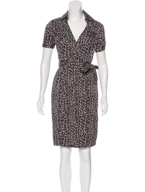 Diane von Furstenberg Silk Wrap Dress Grey