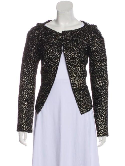 Diane von Furstenberg Fleece Wool Printed Evening… - image 1