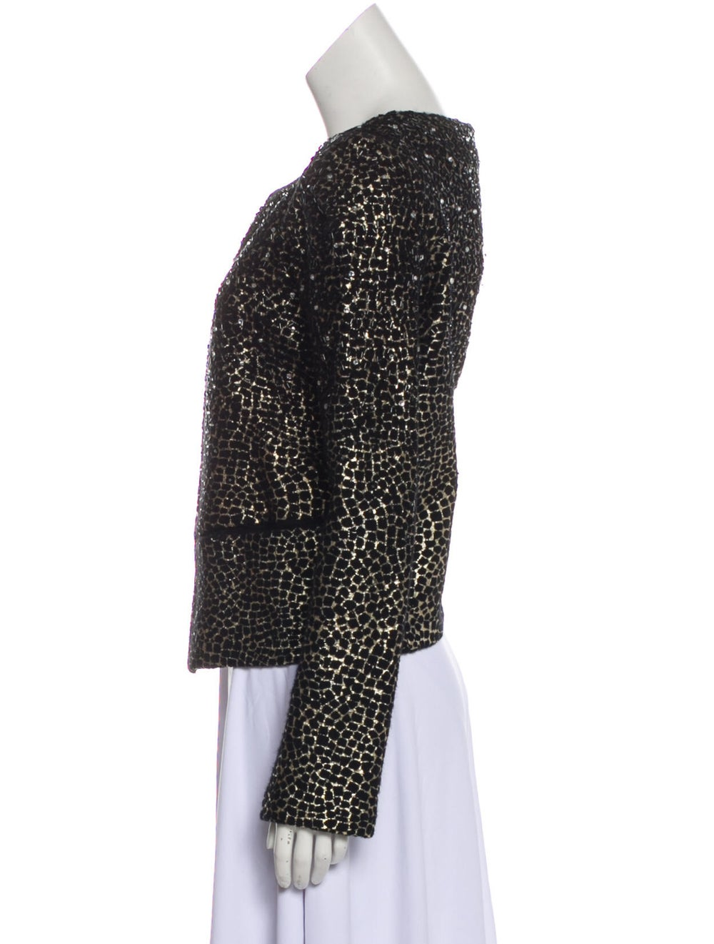 Diane von Furstenberg Fleece Wool Printed Evening… - image 2