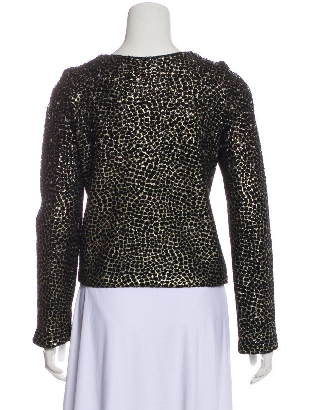 Diane von Furstenberg Fleece Wool Printed Evening… - image 3