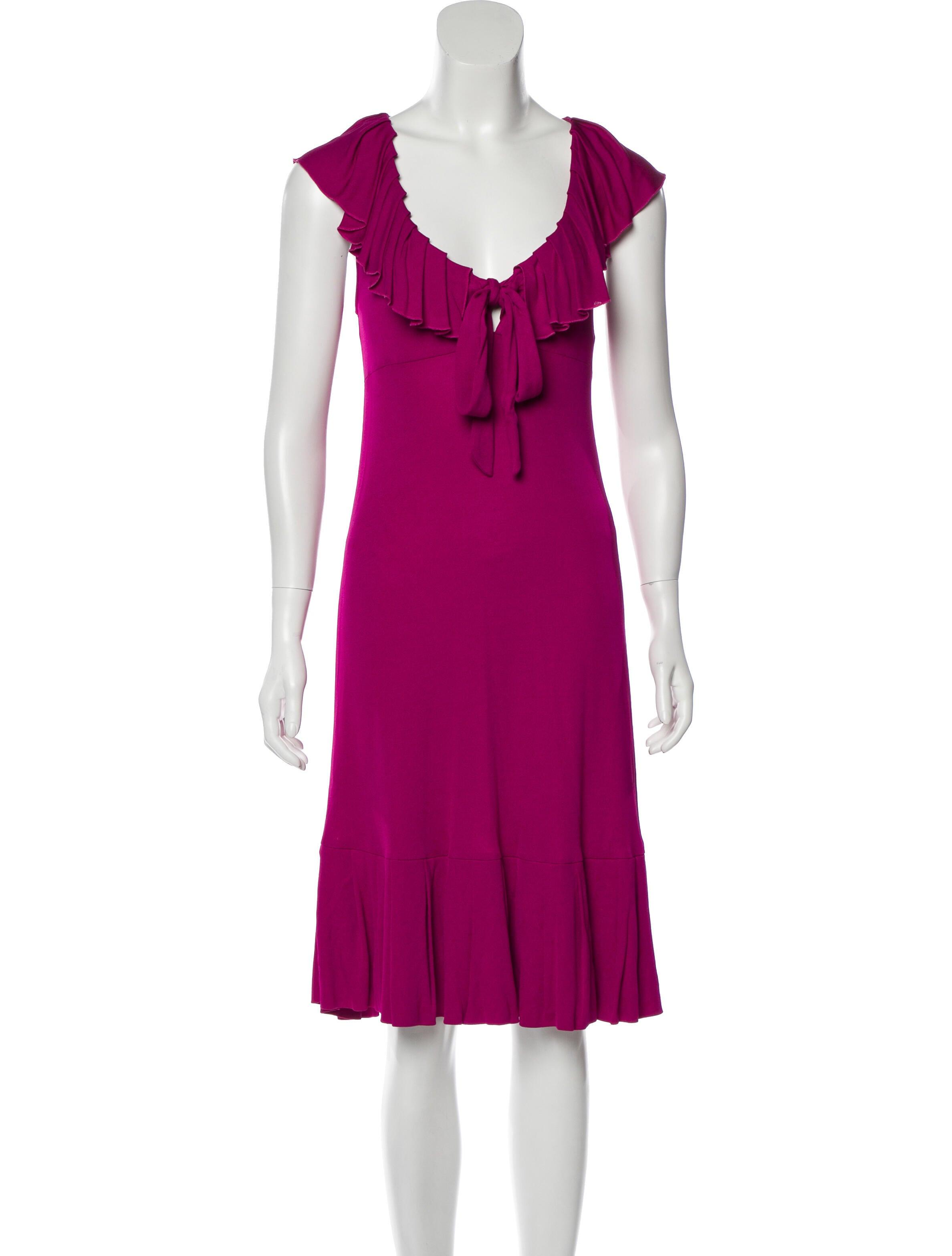 Diane von Furstenberg Baila Knee-Length Dress - Clothing -           WDI235425 | The RealReal