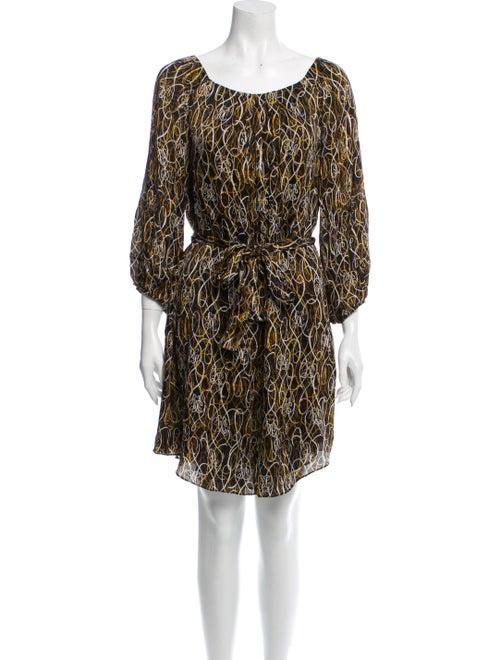 Diane von Furstenberg Catalina Silk Dress Black