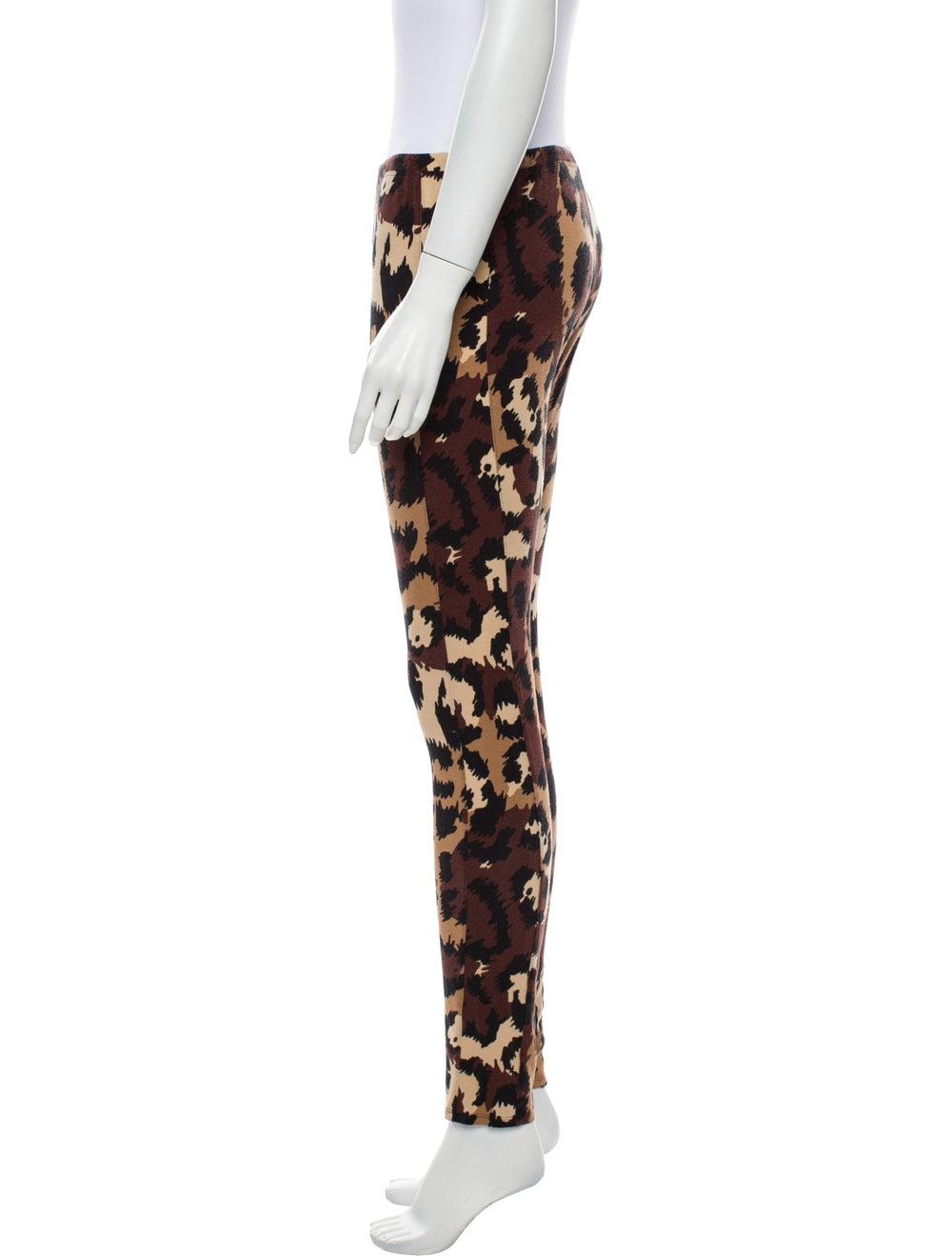 Diane von Furstenberg Animal Print Skinny Leg Pan… - image 2