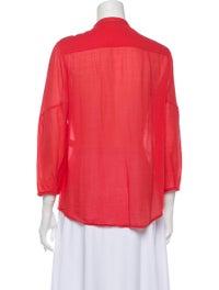 Diane von Furstenberg Pleated Button-Up Top