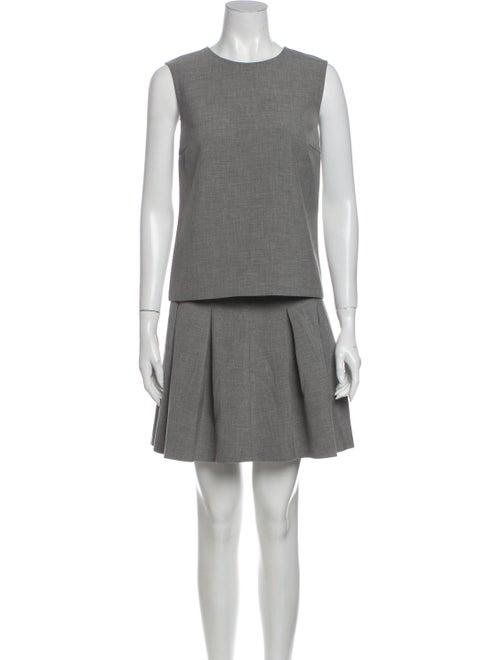 Diane von Furstenberg Pleated Accents Skirt Set Gr
