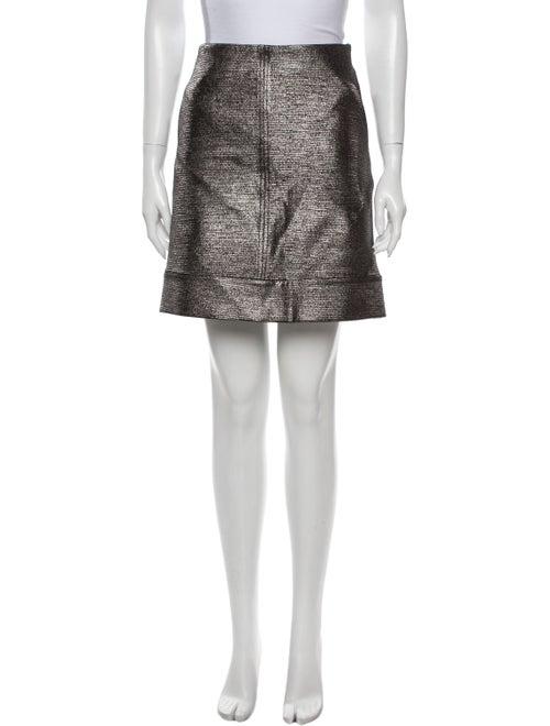 Diane von Furstenberg Mini Skirt Metallic
