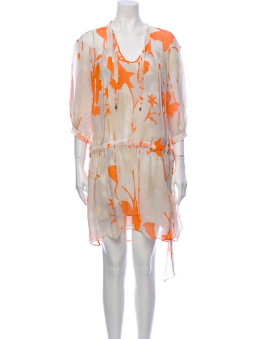 Diane von Furstenberg Silk Mini Dress Orange