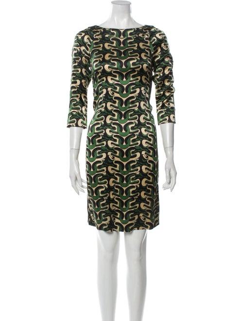 Diane von Furstenberg Silk Mini Dress Green