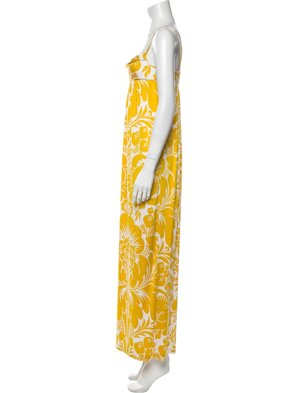 Diane von Furstenberg Silk Long Dress Yellow - image 2