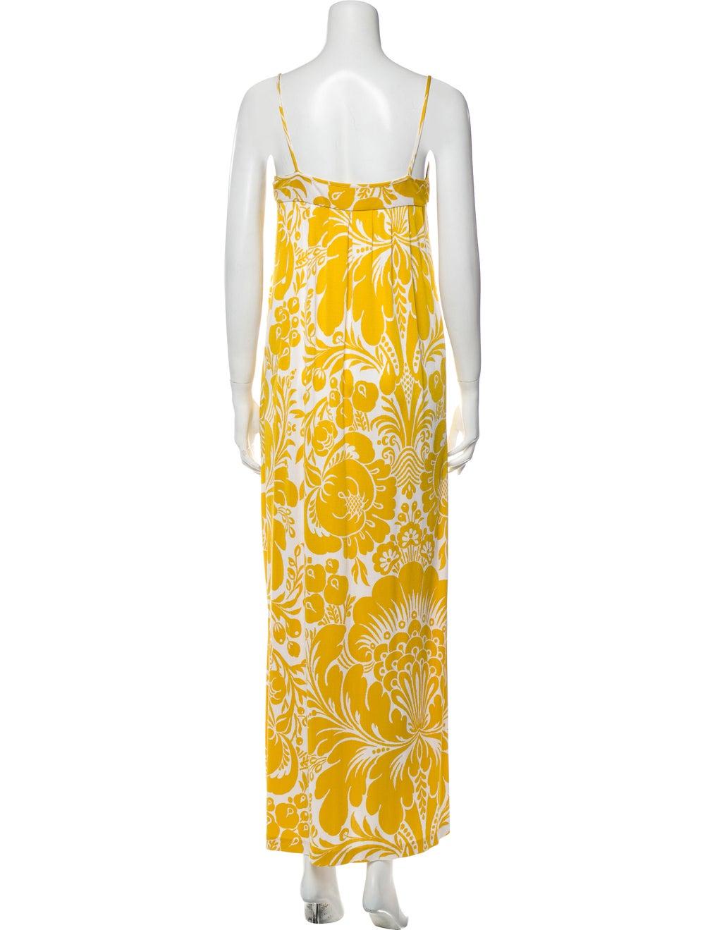 Diane von Furstenberg Silk Long Dress Yellow - image 3