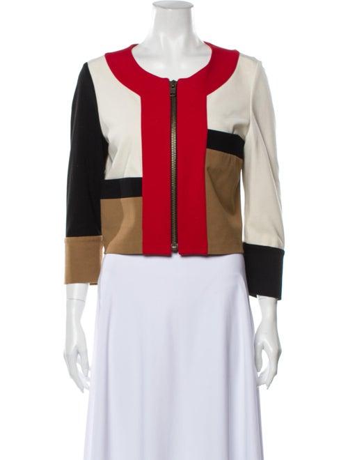 Diane von Furstenberg Colorblock Pattern Jacket