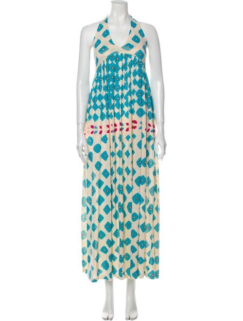 Diane von Furstenberg Linen Long Dress