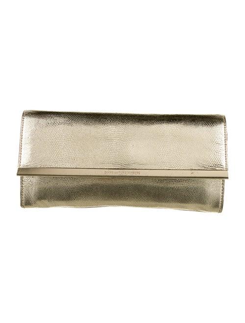 Diane von Furstenberg Leather Clutch Gold