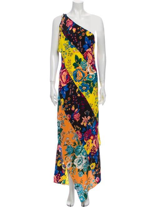 Diane von Furstenberg Silk Long Dress Yellow - image 1
