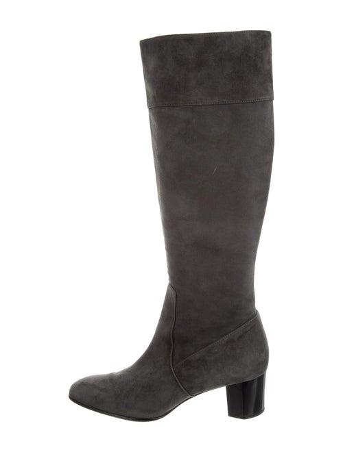 Diane von Furstenberg Suede Boots Grey