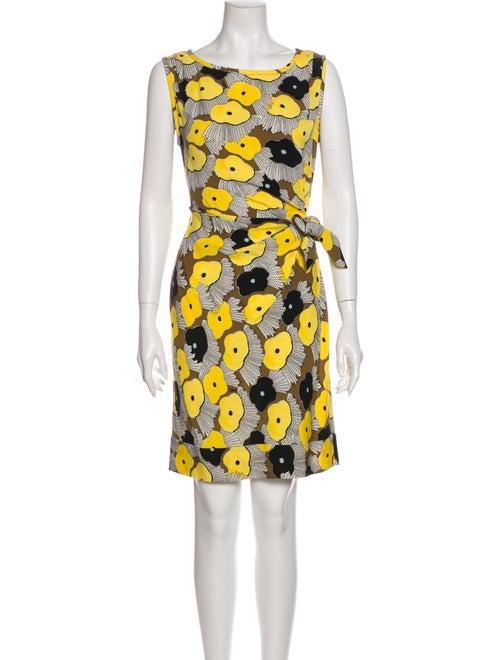 Diane von Furstenberg Silk Mini Dress Yellow