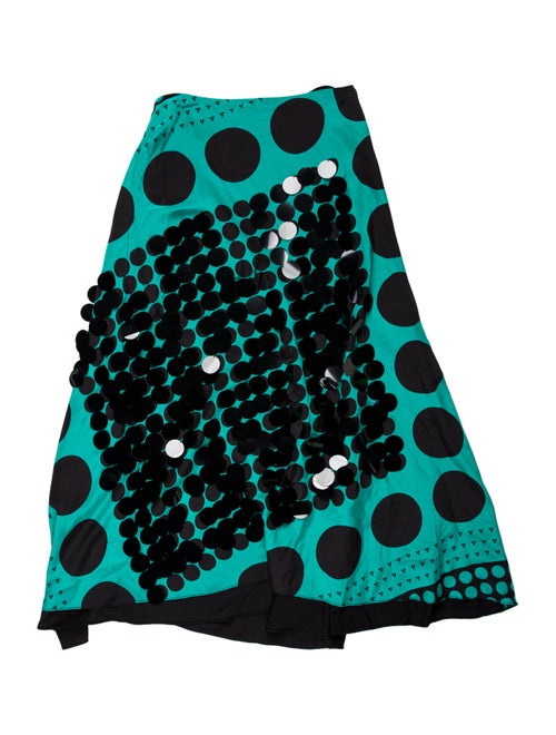 Diane von Furstenberg Silk Midi Length Skirt Green