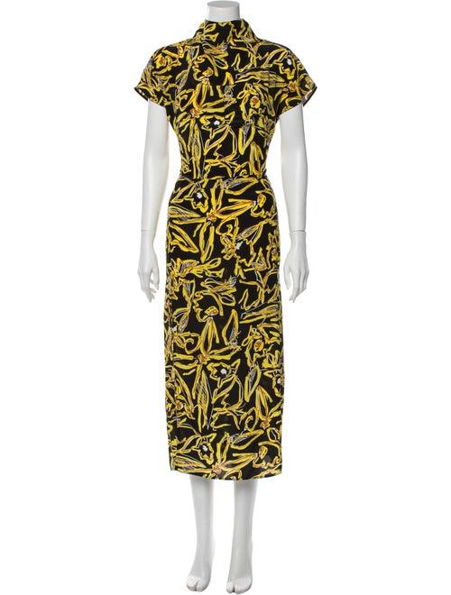 Diane von Furstenberg Silk Long Dress Black