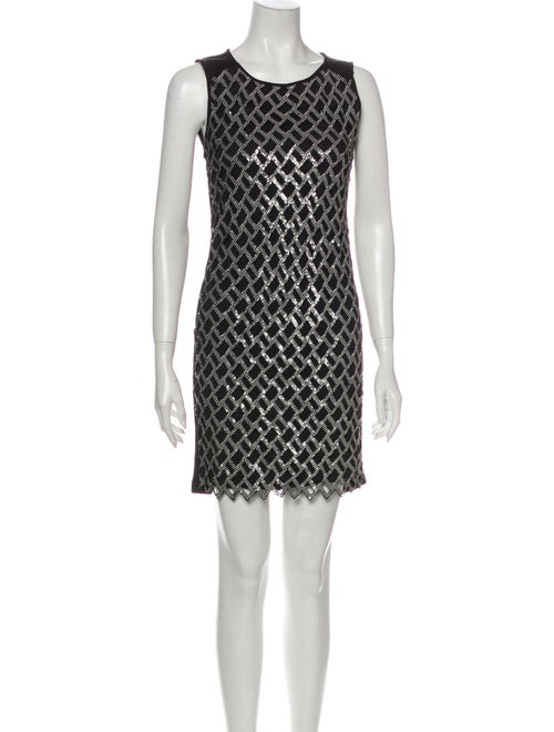 Diane von Furstenberg Printed Mini Dress Black