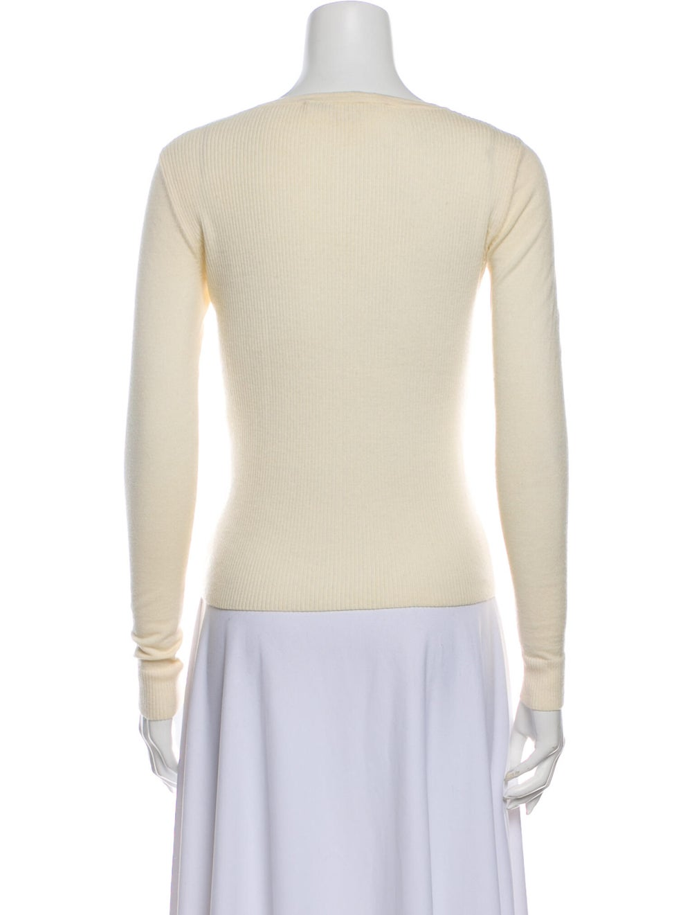 Diane von Furstenberg Merino Wool Lace Pattern Sw… - image 3