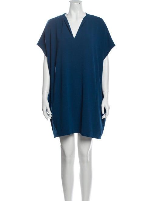 Diane von Furstenberg V-Neck Mini Dress Blue