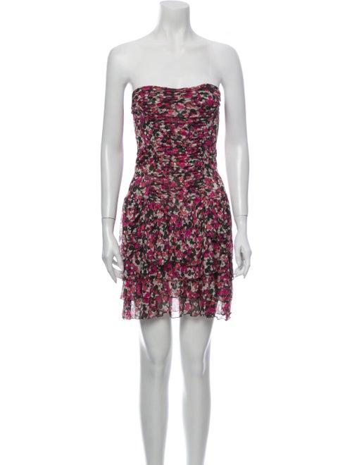 Diane von Furstenberg Silk Mini Dress Pink
