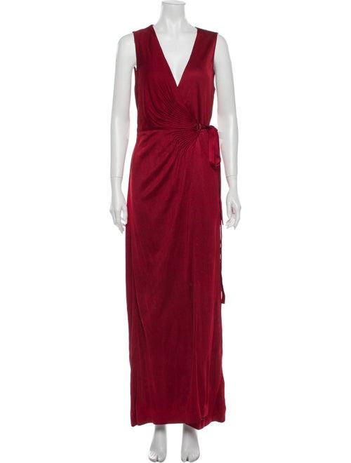 Diane von Furstenberg Plunge Neckline Long Dress R