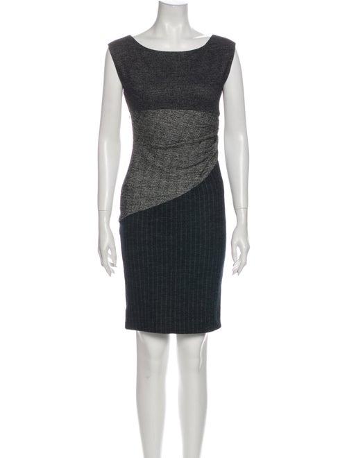 Diane von Furstenberg Striped Mini Dress Grey
