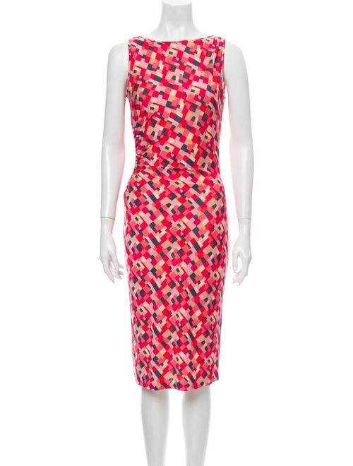 Diane von Furstenberg Silk Midi Length Dress Pink
