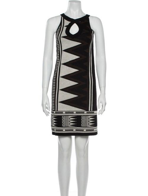 Diane von Furstenberg Printed Mini Dress Brown
