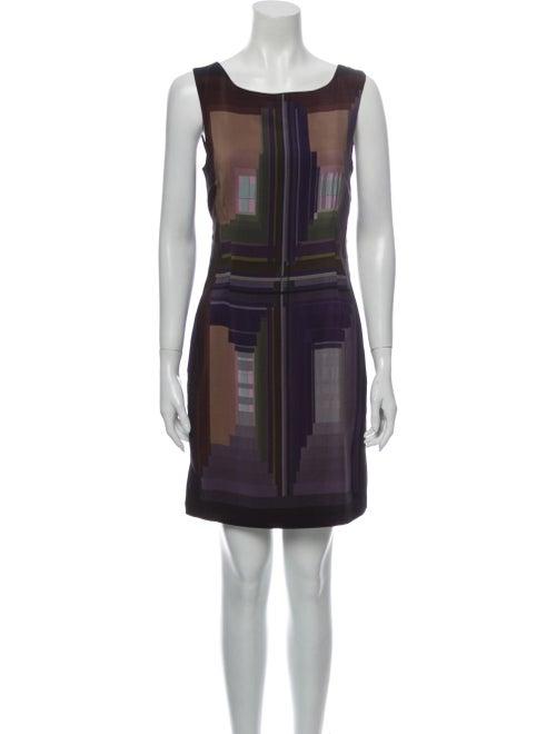 Diane von Furstenberg Silk Mini Dress Black