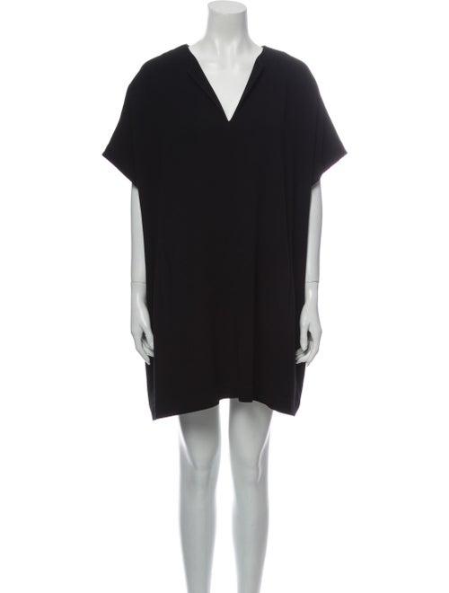 Diane von Furstenberg V-Neck Mini Dress Black