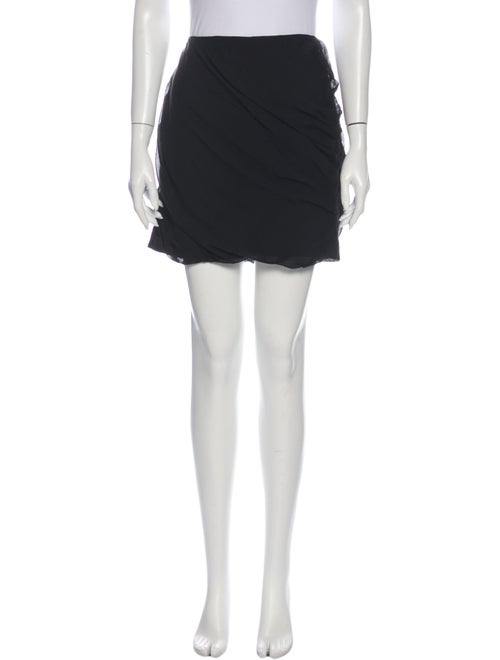 Diane von Furstenberg Silk Mini Skirt Black - image 1