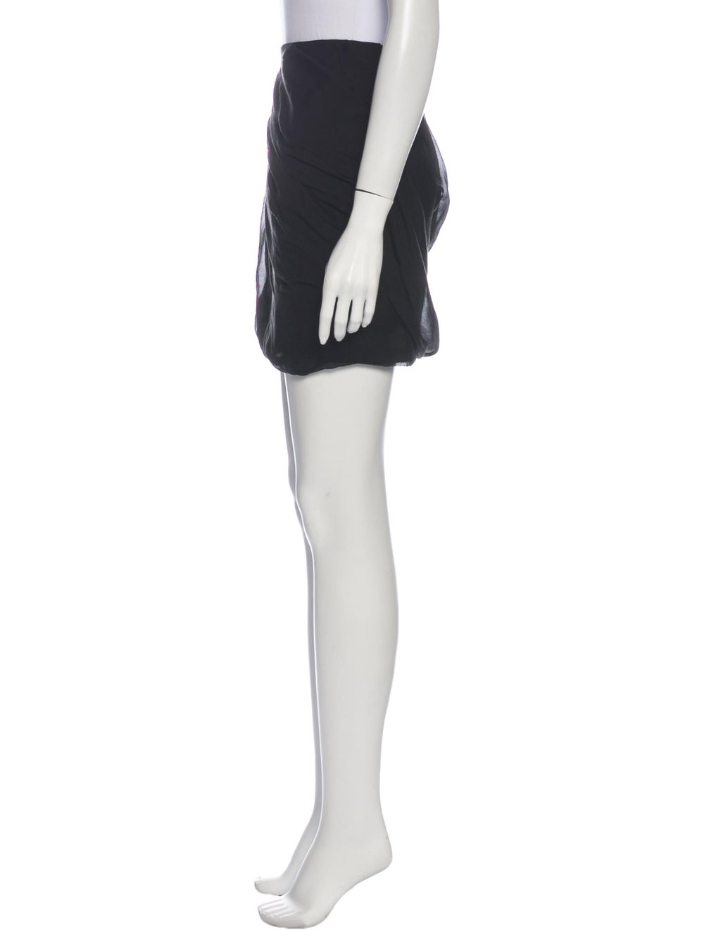 Diane von Furstenberg Silk Mini Skirt Black - image 2