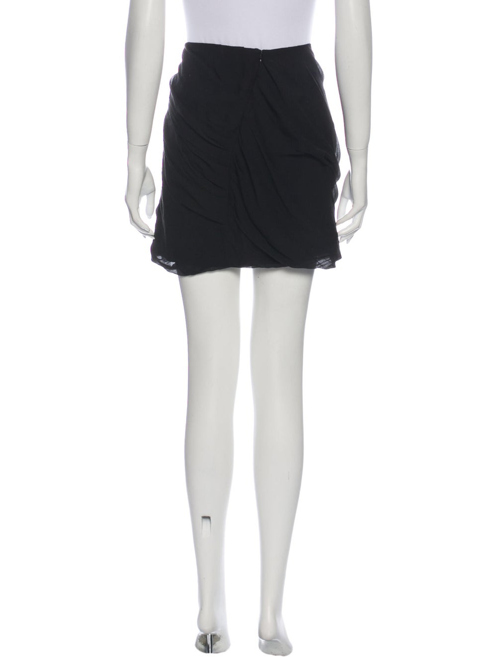Diane von Furstenberg Silk Mini Skirt Black - image 3