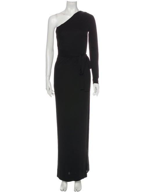 Diane von Furstenberg One-Shoulder Long Dress Blac
