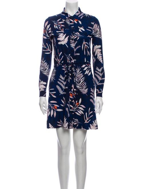 Diane von Furstenberg Silk Mini Dress Blue