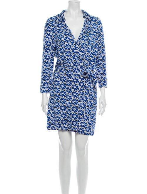 Diane von Furstenberg Printed Mini Dress Blue