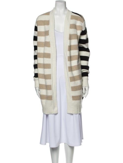 Diane von Furstenberg Angora Striped Sweater Black