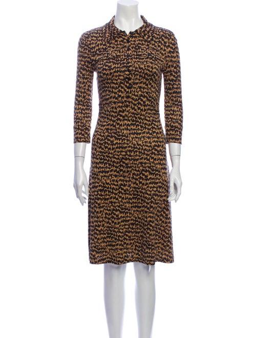 Diane von Furstenberg Silk Knee-Length Dress Brown