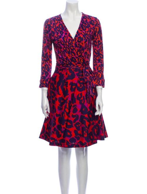 Diane von Furstenberg Silk Knee-Length Dress Blue
