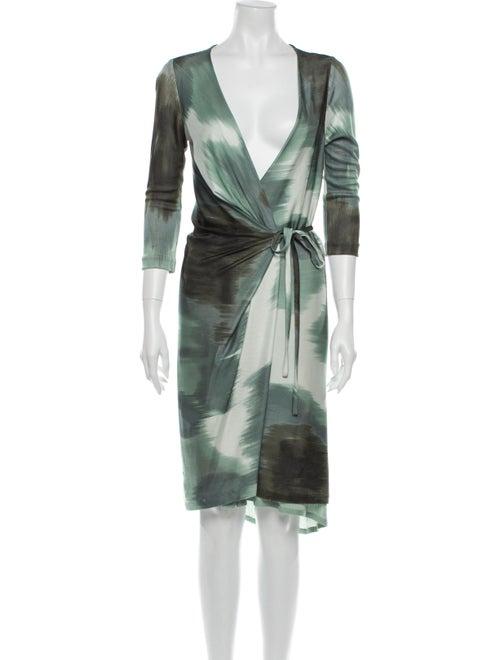 Diane von Furstenberg Printed Knee-Length Dress Gr