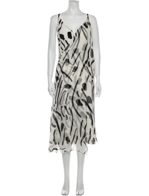 Diane von Furstenberg Printed Long Dress White