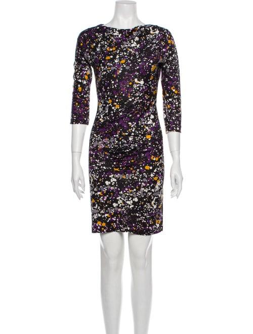 Diane von Furstenberg Silk Mini Dress Purple