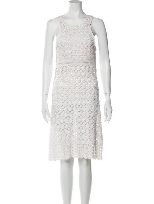 Diane von Furstenberg Lace Pattern Knee-Length Dre